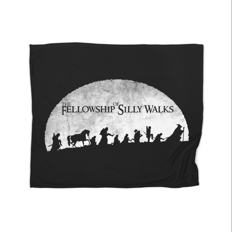 The Fellowship of Silly Walks Home Fleece Blanket Blanket by ikado's Artist Shop