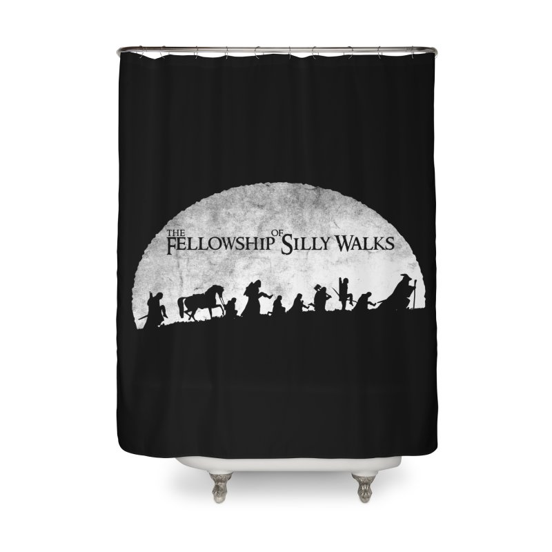The Fellowship of Silly Walks Home Shower Curtain by ikado's Artist Shop