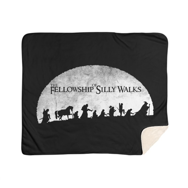 The Fellowship of Silly Walks Home Sherpa Blanket Blanket by ikado's Artist Shop