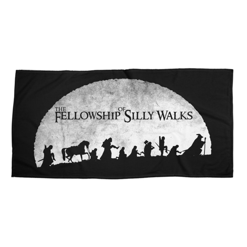 The Fellowship of Silly Walks Accessories Beach Towel by ikado's Artist Shop