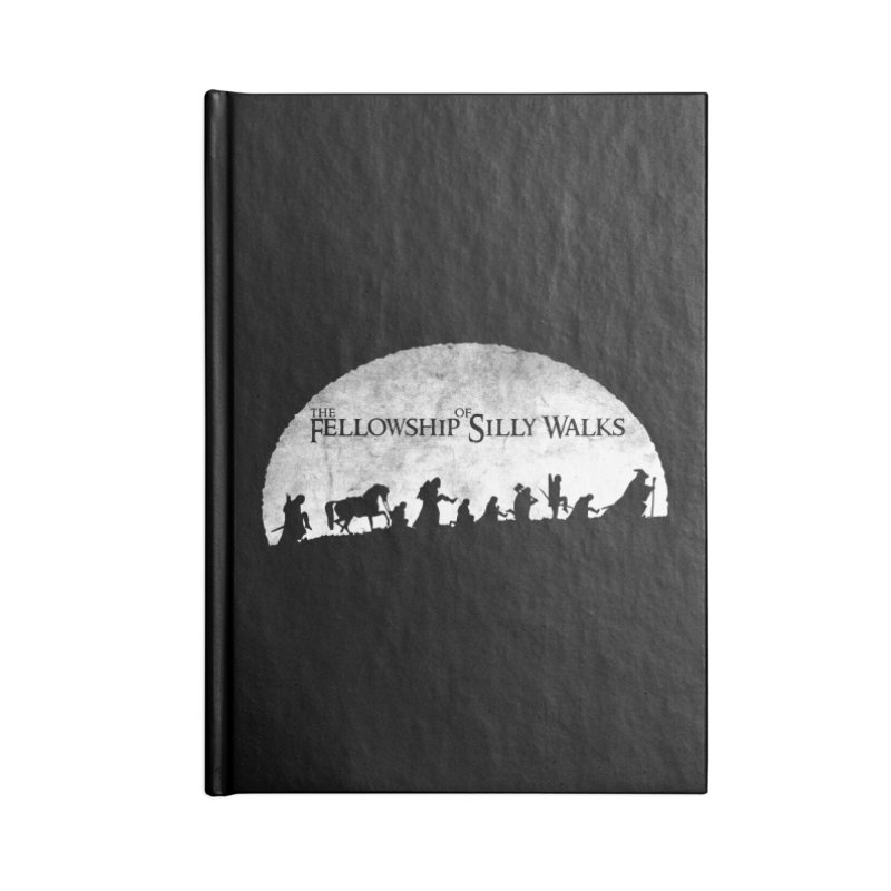 The Fellowship of Silly Walks Accessories Lined Journal Notebook by ikado's Artist Shop