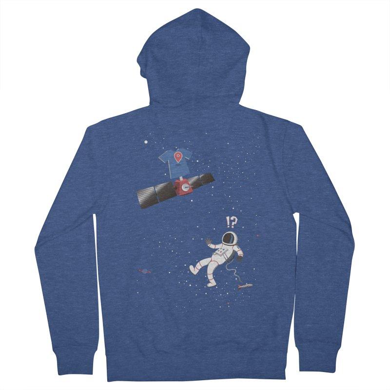 Lost in Meta Space Men's French Terry Zip-Up Hoody by ikado's Artist Shop