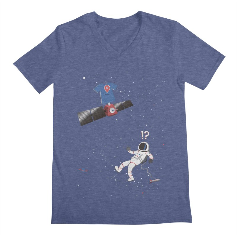 Lost in Meta Space Men's V-Neck by ikado's Artist Shop