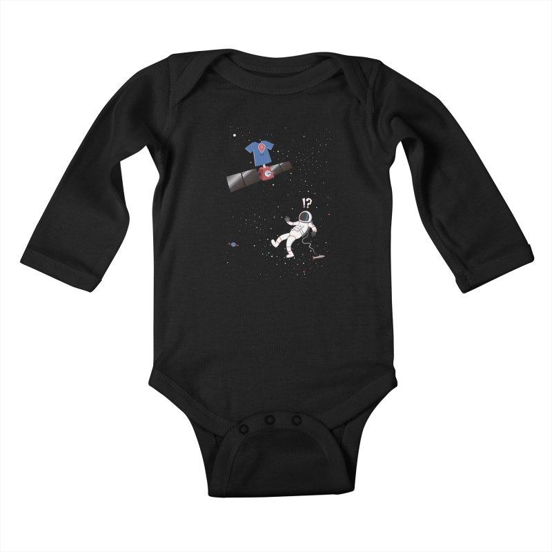 Lost in Meta Space Kids Baby Longsleeve Bodysuit by ikado's Artist Shop