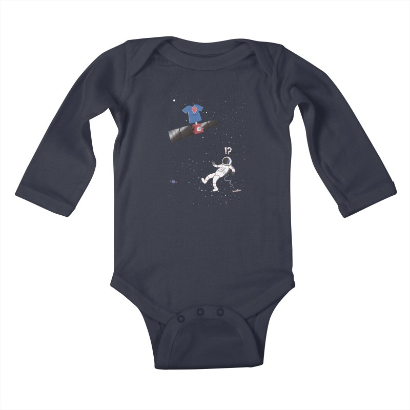 Lost in Meta Space Kids Baby Longsleeve Bodysuit by ikado's Artist Shop