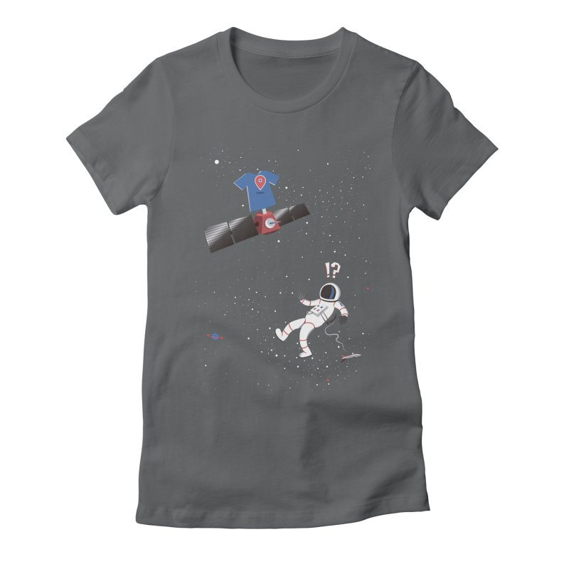 Lost in Meta Space Women's Fitted T-Shirt by ikado's Artist Shop