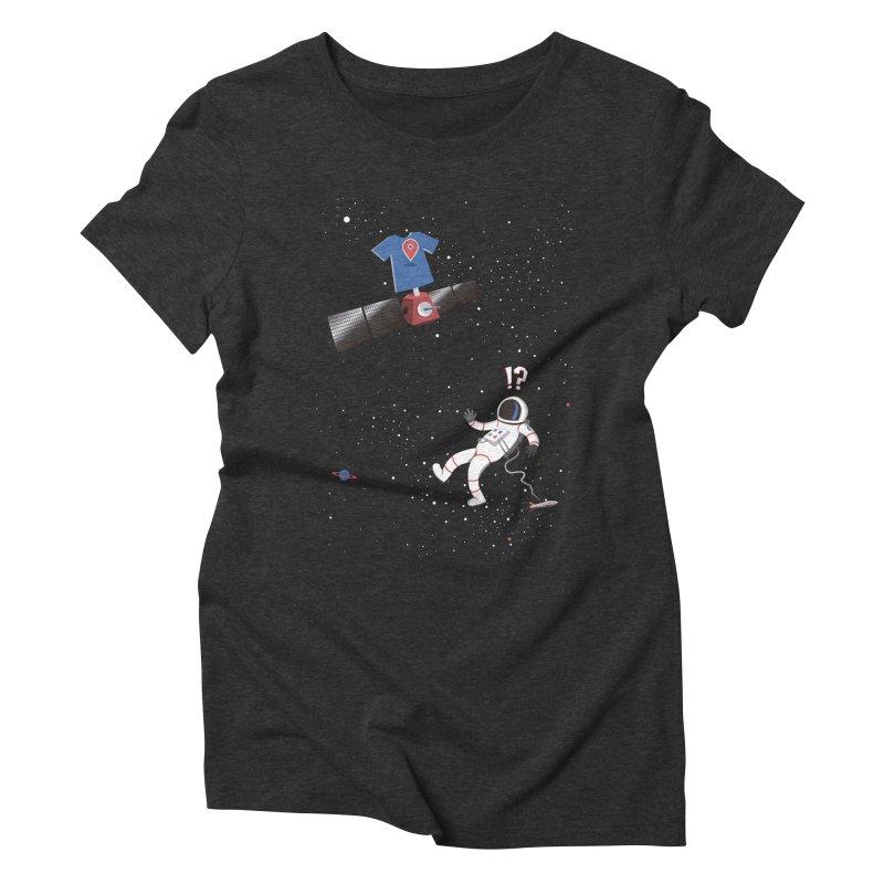 Lost in Meta Space Women's Triblend T-Shirt by ikado's Artist Shop