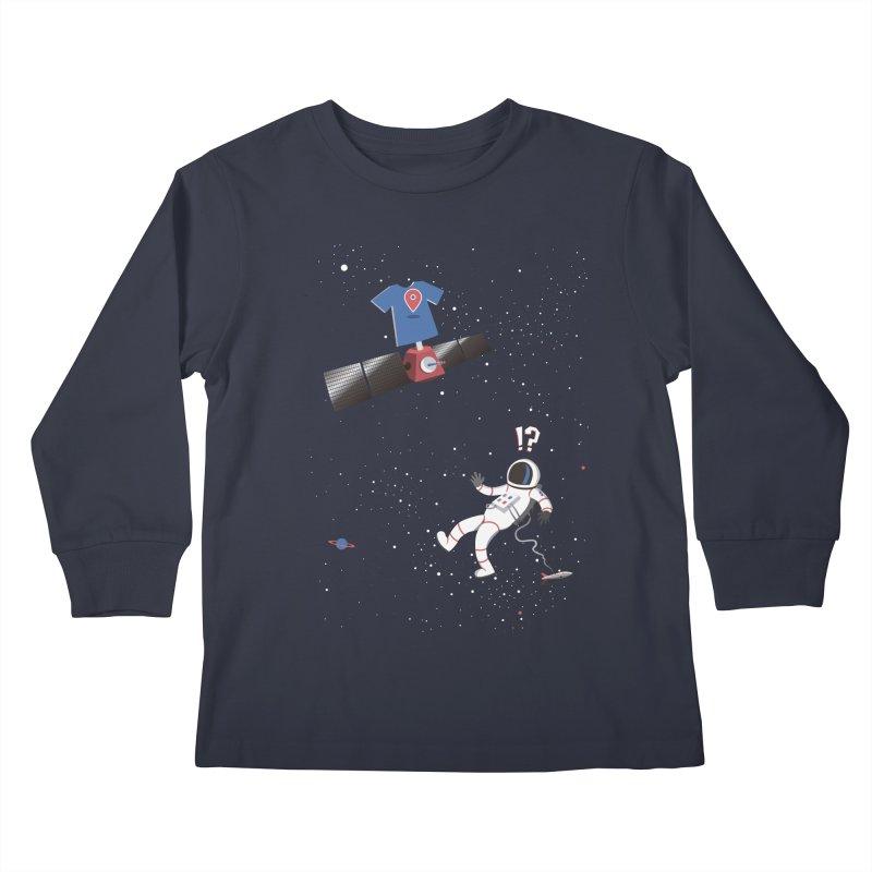 Lost in Meta Space Kids Longsleeve T-Shirt by ikado's Artist Shop