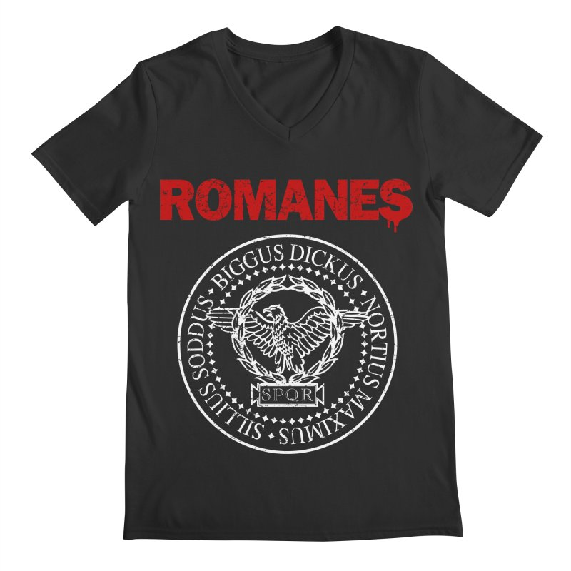 Romanes Men's Regular V-Neck by ikado's Artist Shop