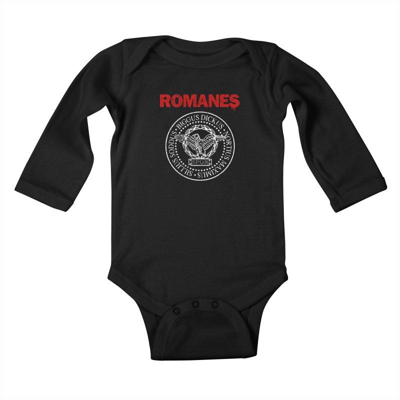 Romanes Kids Baby Longsleeve Bodysuit by ikado's Artist Shop