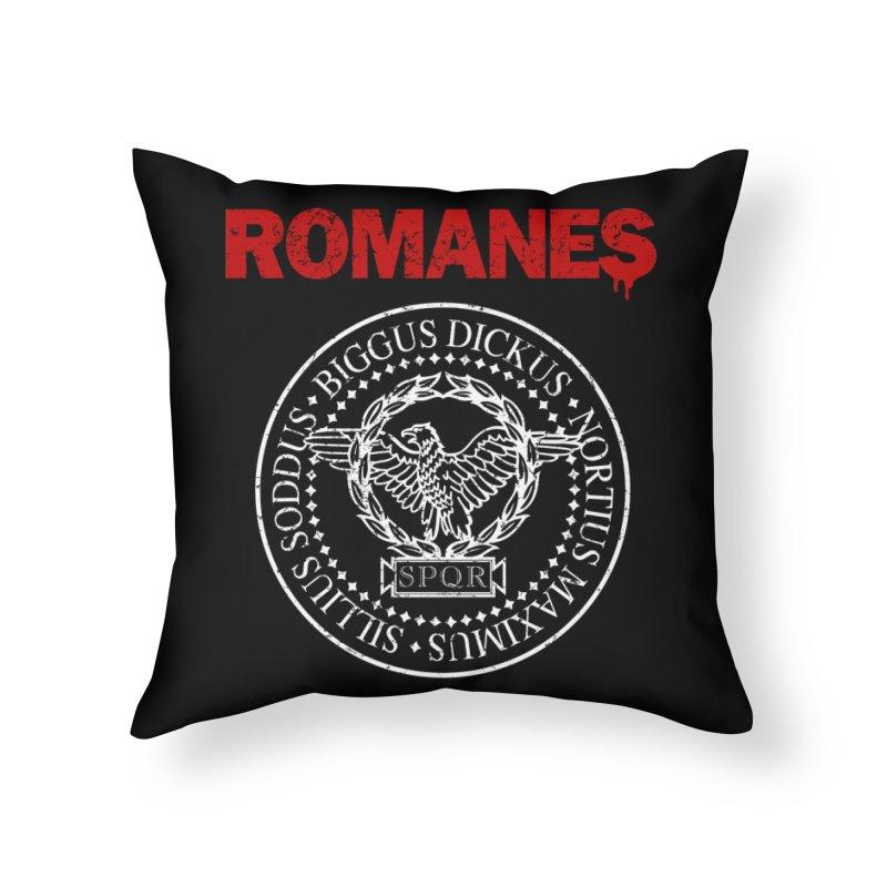 Romanes Home Throw Pillow by ikado's Artist Shop