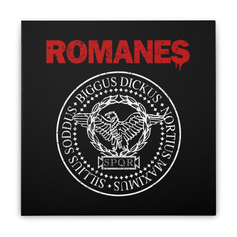 Romanes Home Stretched Canvas by ikado's Artist Shop