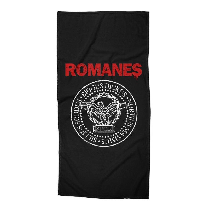 Romanes Accessories Beach Towel by ikado's Artist Shop