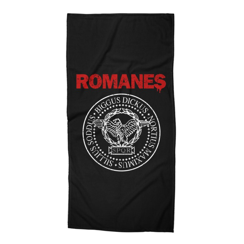 Romanes Accessories Beach Towel by ikado's Artist Shop