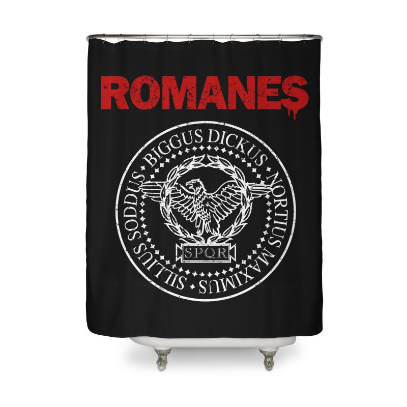 Romanes Home Shower Curtain by ikado's Artist Shop