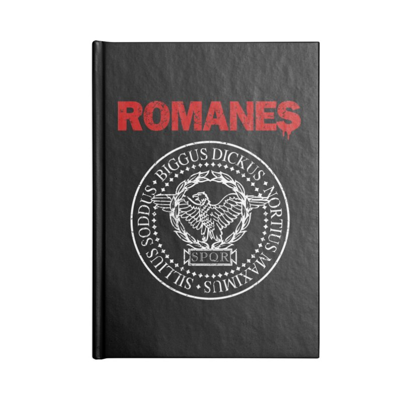 Romanes Accessories Blank Journal Notebook by ikado's Artist Shop