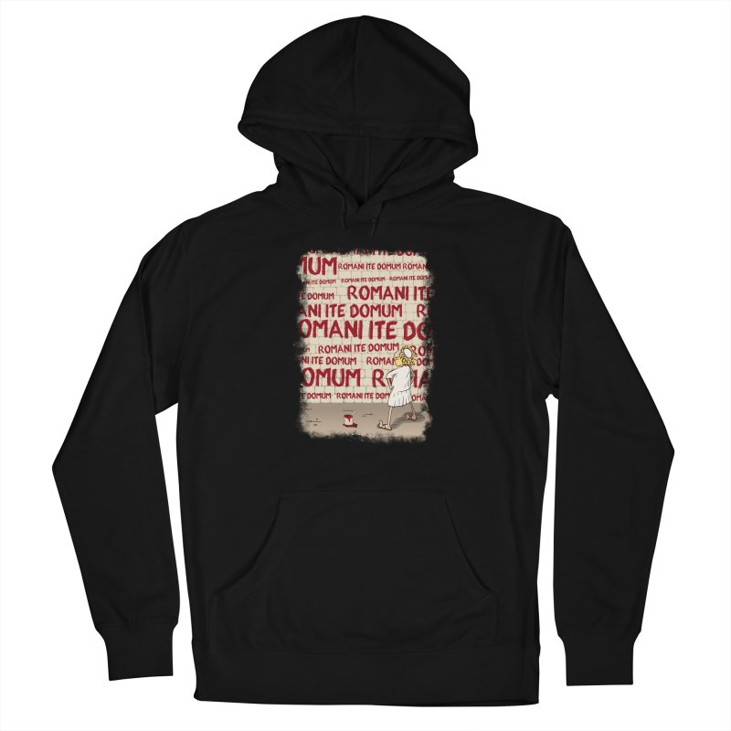 ROMANI ITE DOMUM Men's French Terry Pullover Hoody by ikado's Artist Shop