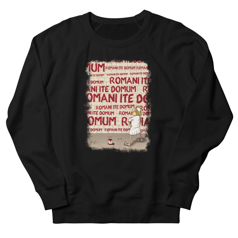ROMANI ITE DOMUM Men's French Terry Sweatshirt by ikado's Artist Shop