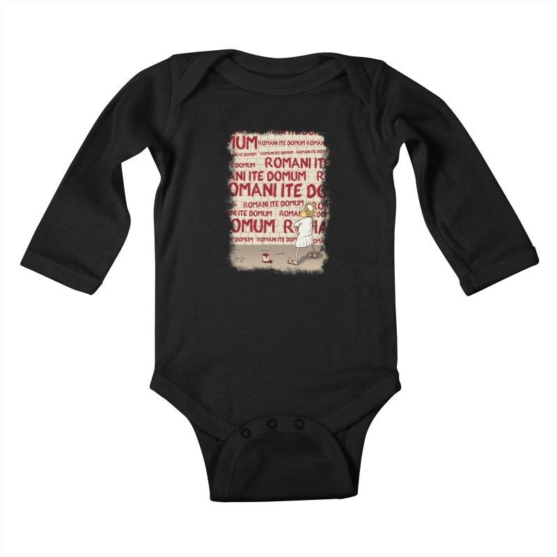 ROMANI ITE DOMUM Kids Baby Longsleeve Bodysuit by ikado's Artist Shop