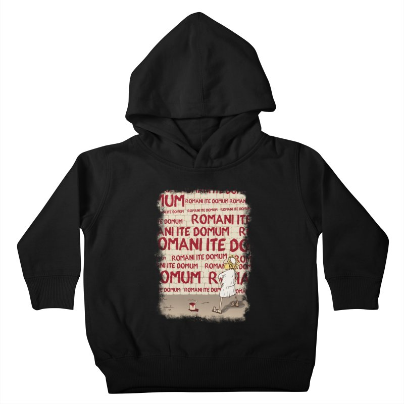 ROMANI ITE DOMUM Kids Toddler Pullover Hoody by ikado's Artist Shop