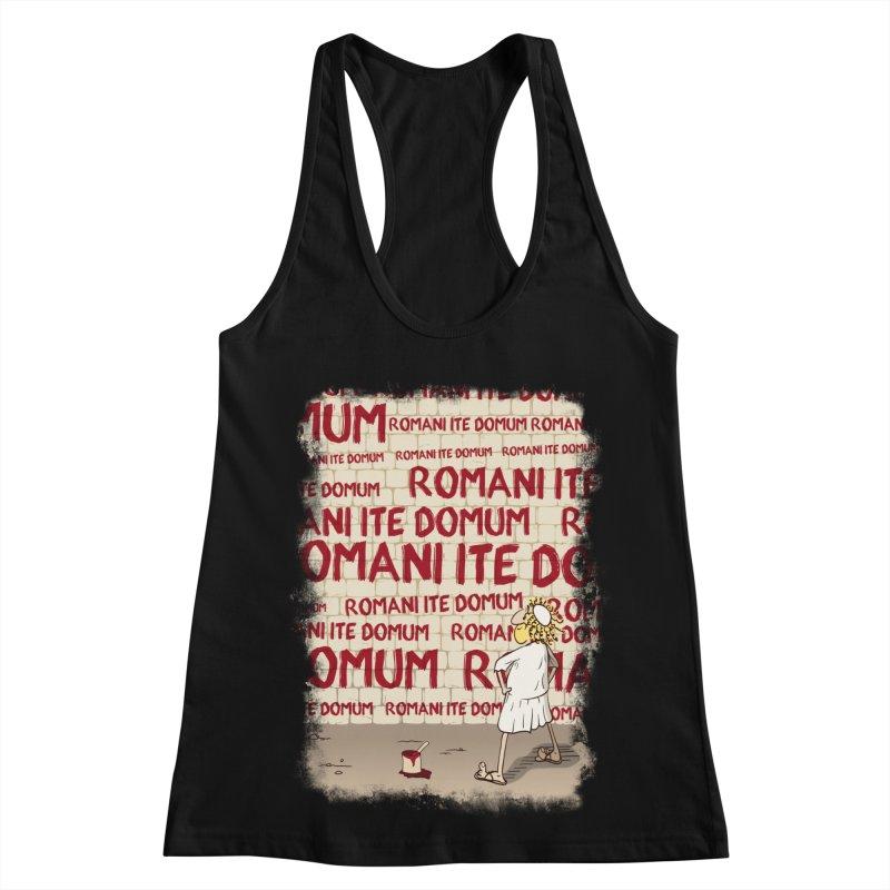 ROMANI ITE DOMUM Women's Racerback Tank by ikado's Artist Shop