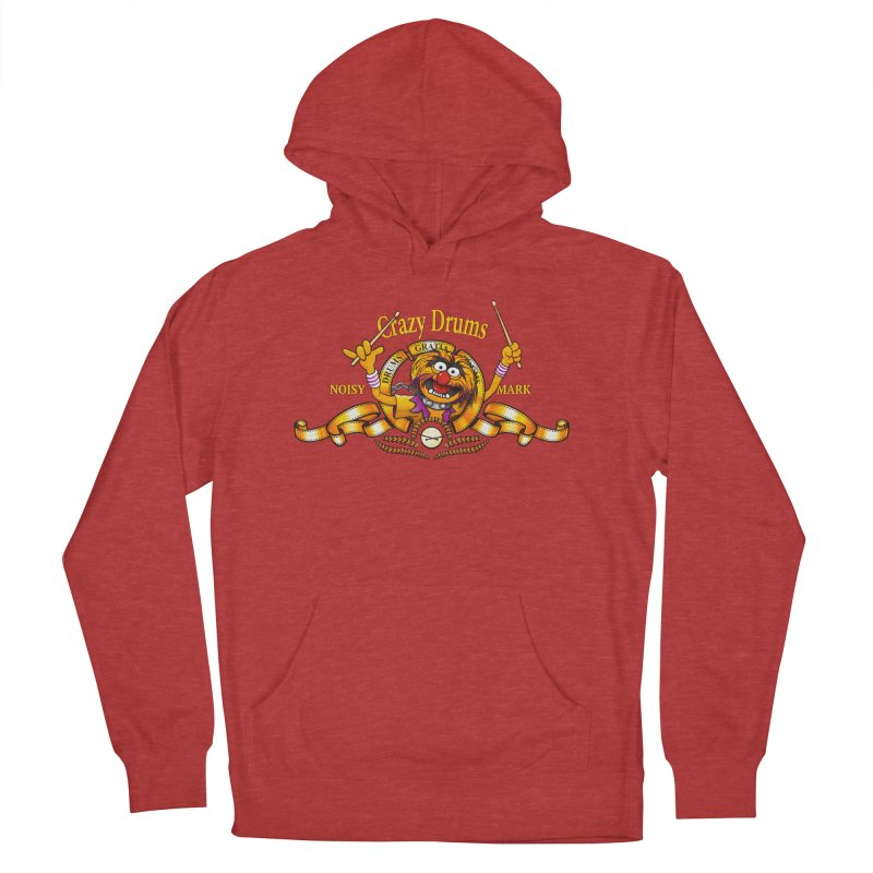 Crazy Drums Women's Pullover Hoody by ikado's Artist Shop