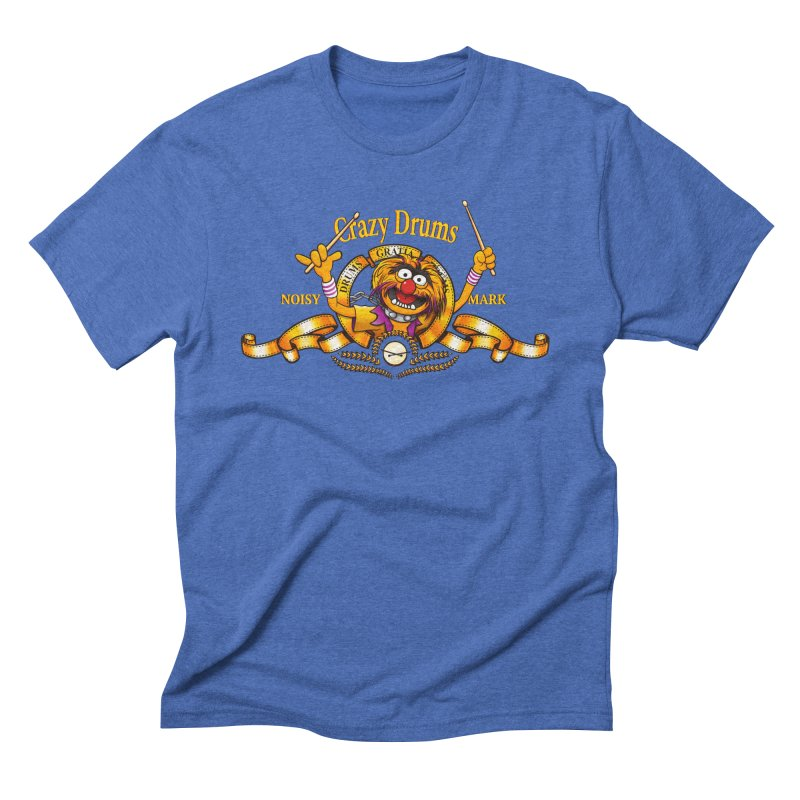 Crazy Drums Men's Triblend T-shirt by ikado's Artist Shop