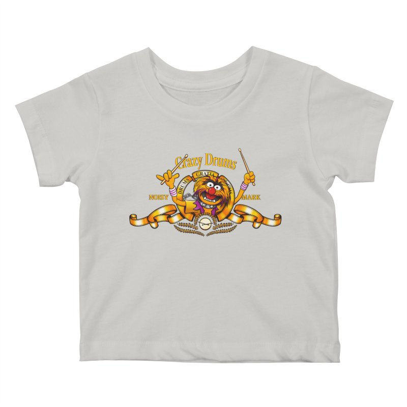 Crazy Drums Kids Baby T-Shirt by ikado's Artist Shop