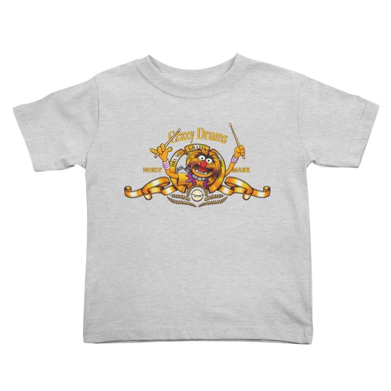 Crazy Drums Kids Toddler T-Shirt by ikado's Artist Shop