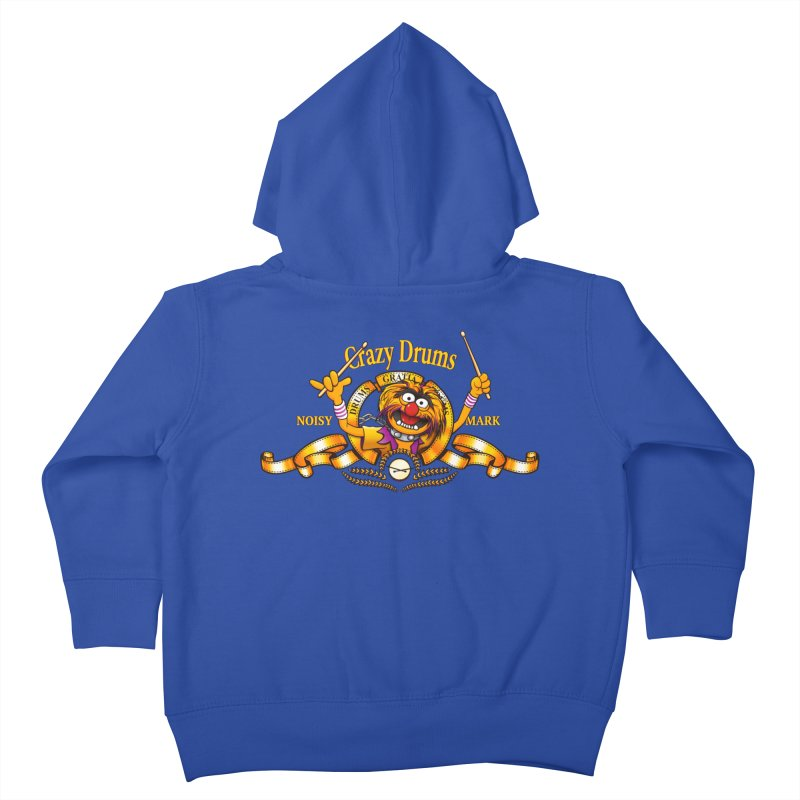 Crazy Drums Kids Toddler Zip-Up Hoody by ikado's Artist Shop