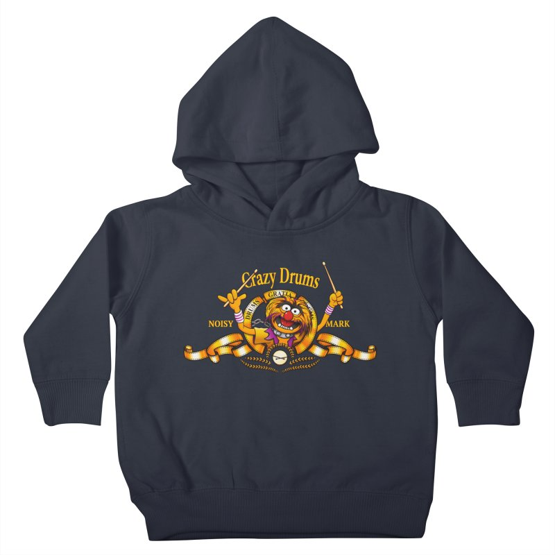 Crazy Drums Kids Toddler Pullover Hoody by ikado's Artist Shop