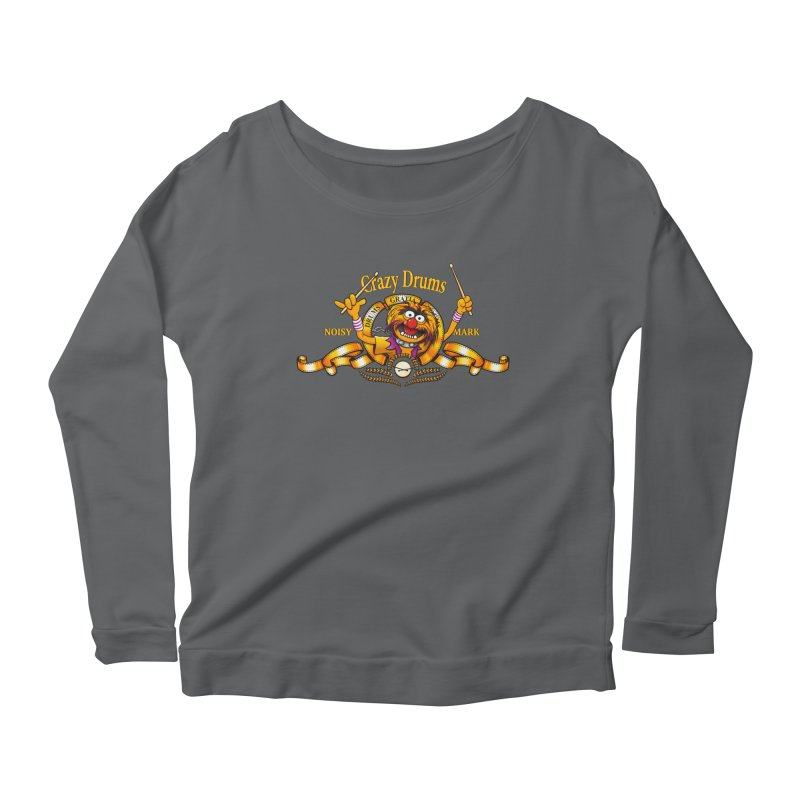Crazy Drums Women's Longsleeve Scoopneck  by ikado's Artist Shop