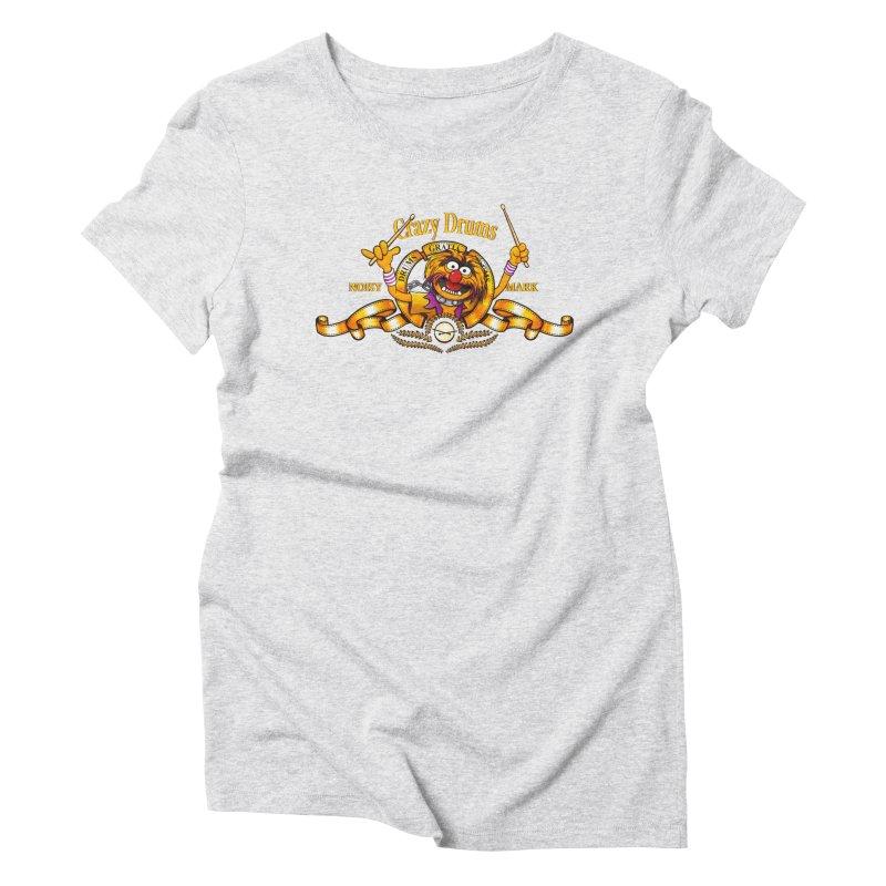 Crazy Drums Women's Triblend T-shirt by ikado's Artist Shop