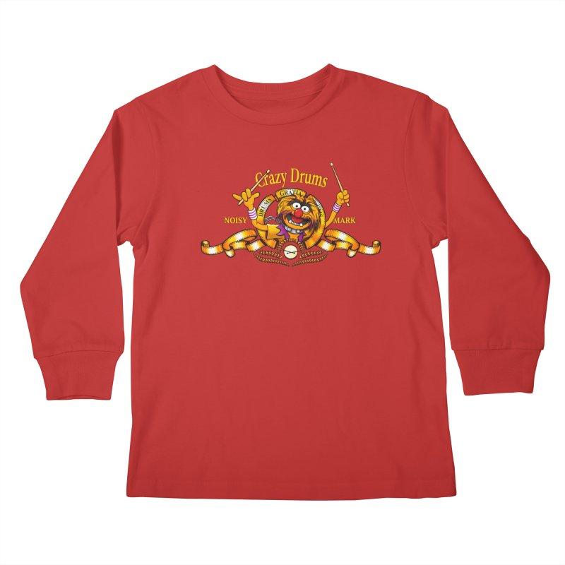 Crazy Drums Kids Longsleeve T-Shirt by ikado's Artist Shop