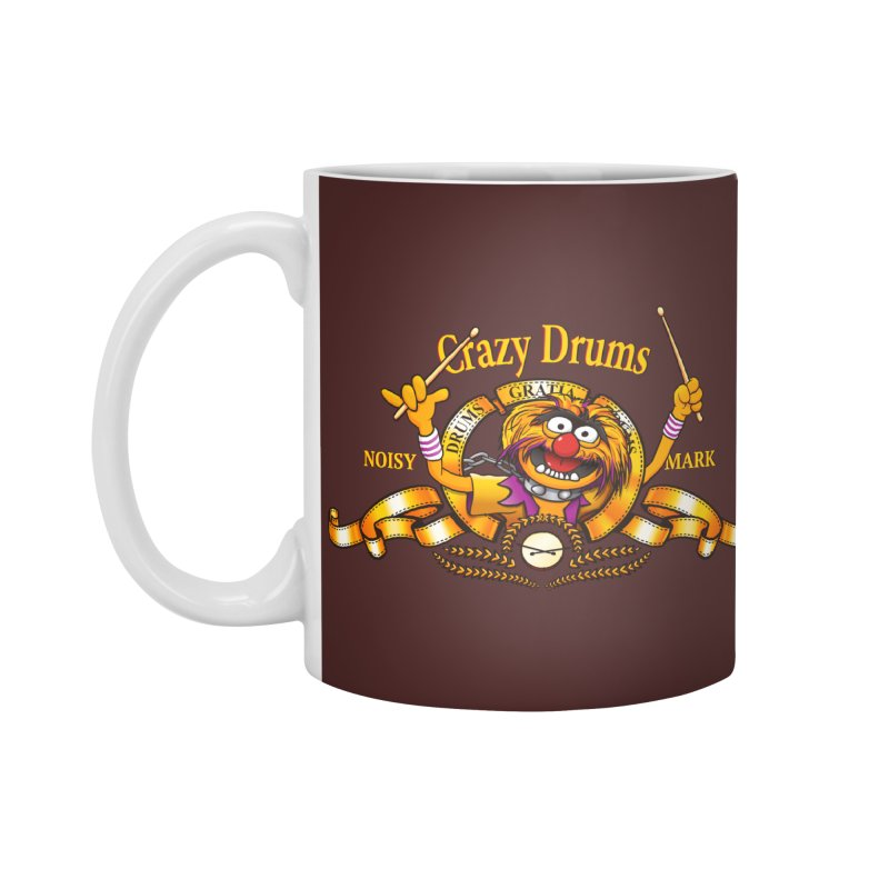 Crazy Drums Accessories Mug by ikado's Artist Shop