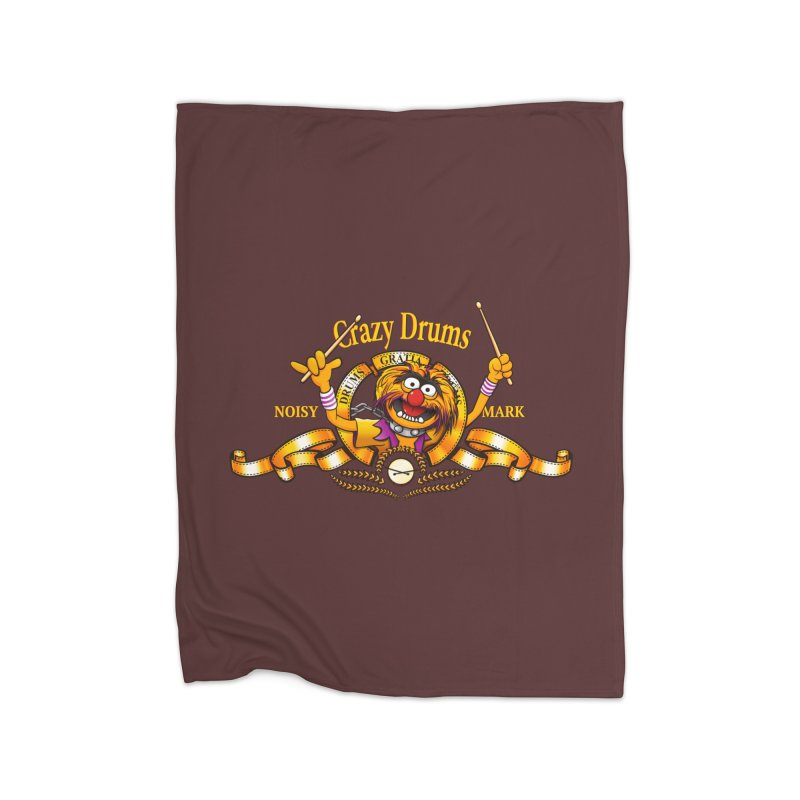 Crazy Drums Home Fleece Blanket Blanket by ikado's Artist Shop