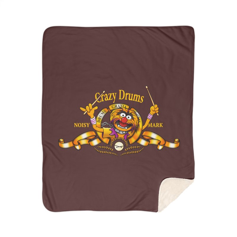 Crazy Drums Home Sherpa Blanket Blanket by ikado's Artist Shop