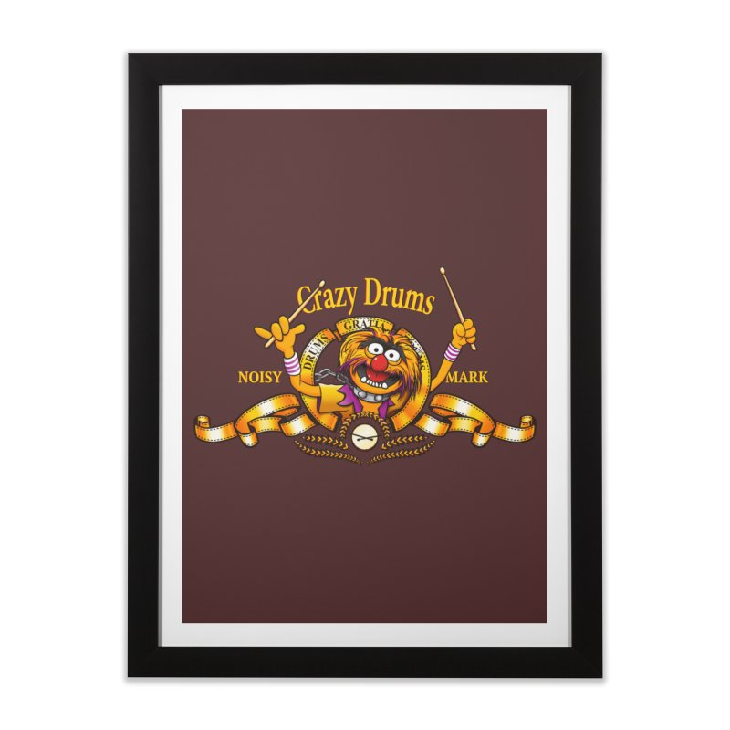 Crazy Drums Home Framed Fine Art Print by ikado's Artist Shop