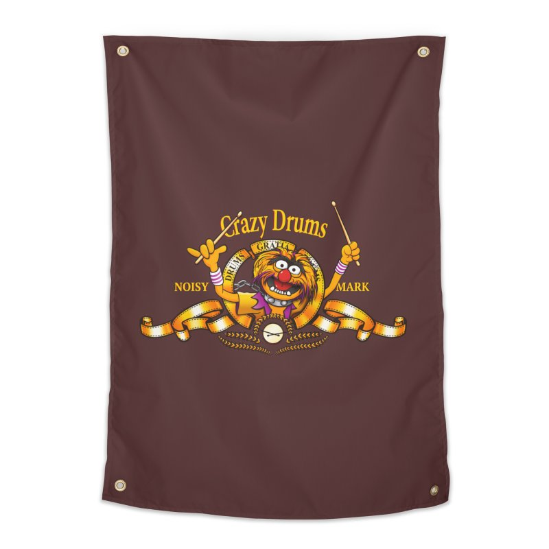 Crazy Drums Home Tapestry by ikado's Artist Shop