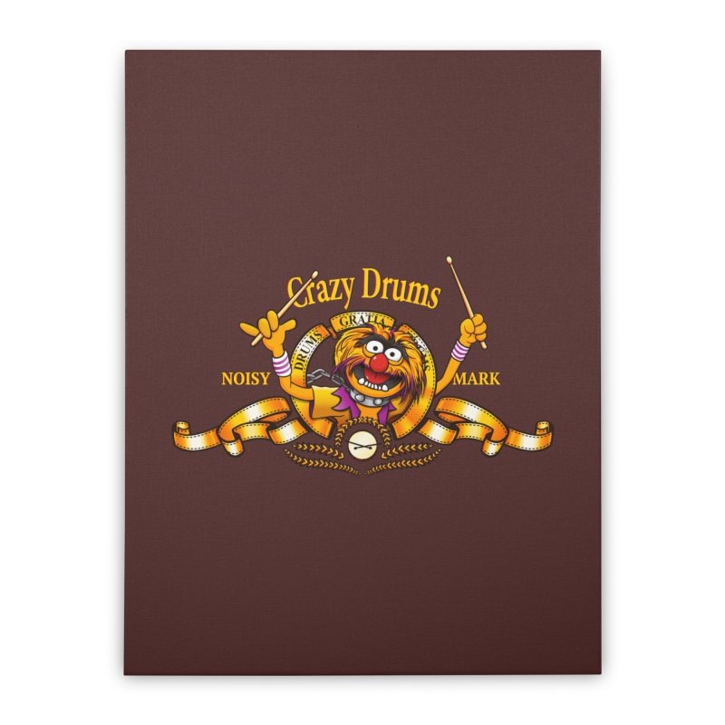 Crazy Drums Home Stretched Canvas by ikado's Artist Shop