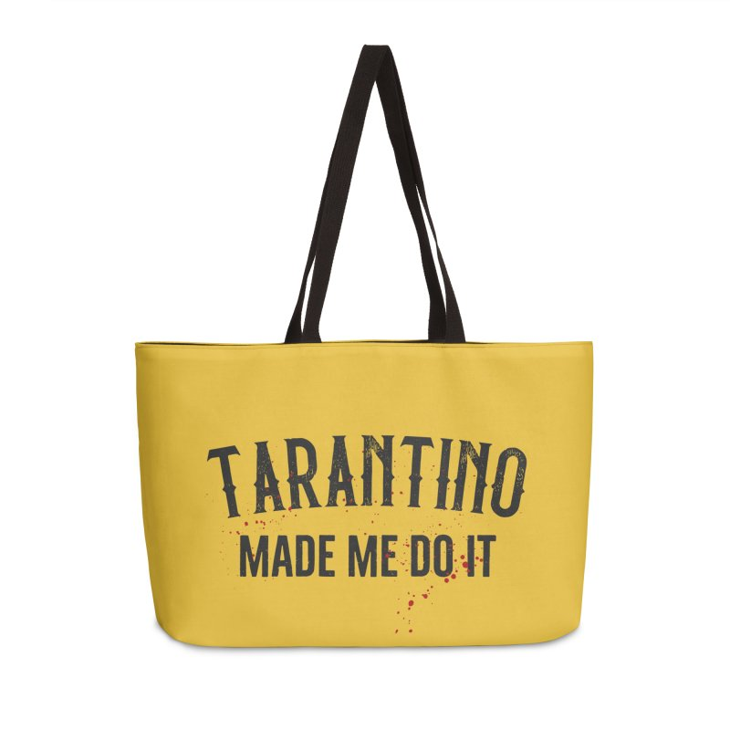 Tarantino made me do it Accessories Weekender Bag Bag by ikado's Artist Shop