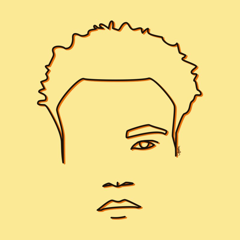 Childish Gambino - Yellow and Orange by Ilaviu's Artist Shop
