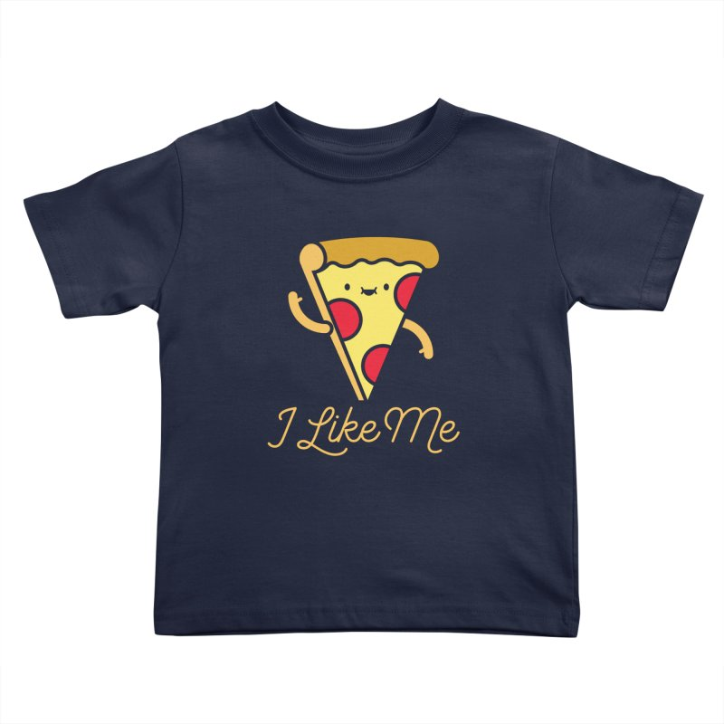 Pepperoni & Cheese Kids Toddler T-Shirt by I Like Me