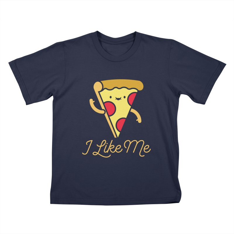 Pepperoni & Cheese Kids T-shirt by I Like Me
