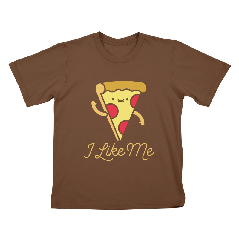 Pepperoni & Cheese Kids T-Shirt by I Like Me