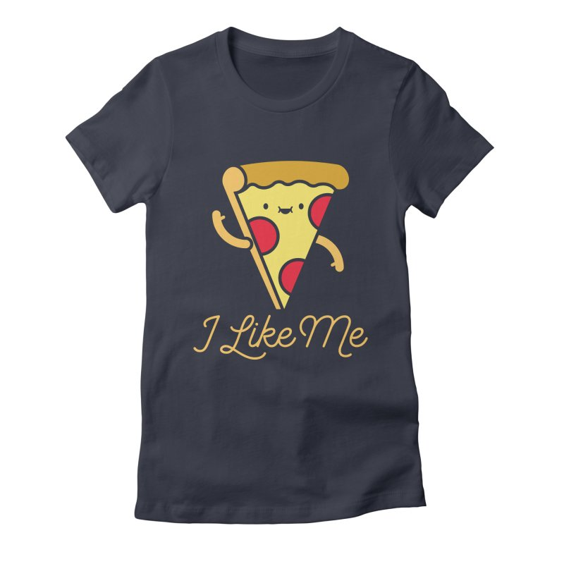 Pepperoni & Cheese Women's Fitted T-Shirt by I Like Me