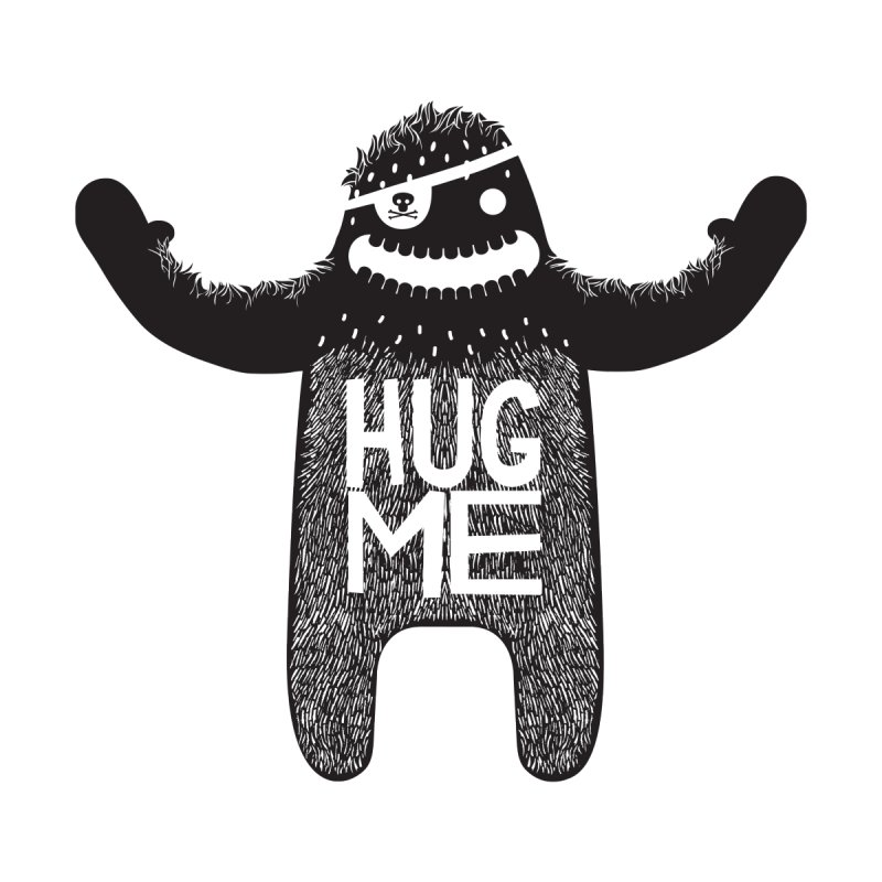 Hug Me Sasquatch None  by The Illustration Booth Shop