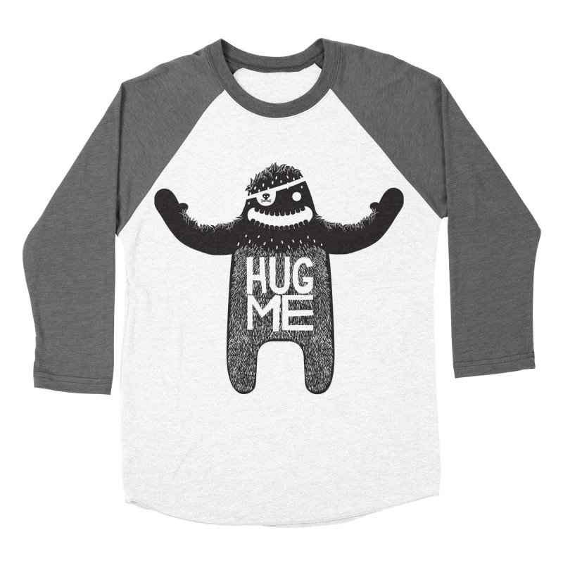Hug Me Sasquatch Men's Baseball Triblend T-Shirt by The Illustration Booth Shop