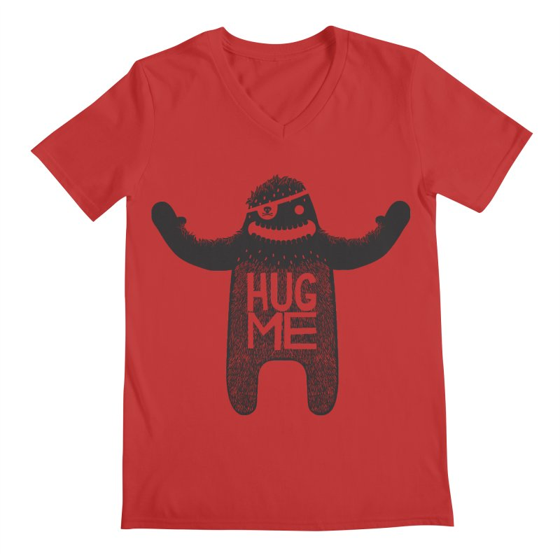 Hug Me Sasquatch Men's V-Neck by The Illustration Booth Shop