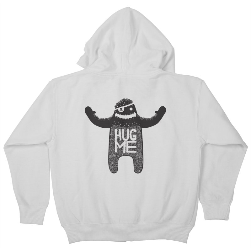 Hug Me Sasquatch Kids Zip-Up Hoody by The Illustration Booth Shop